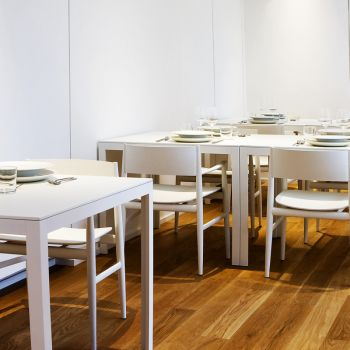 Porro, image:contract_immagini - Porro Spa - Neve Chairs, Fractal tables