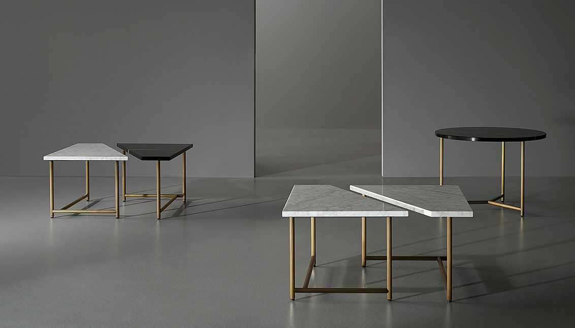 Porro - Palladio coffee tables - Design GamFratesi