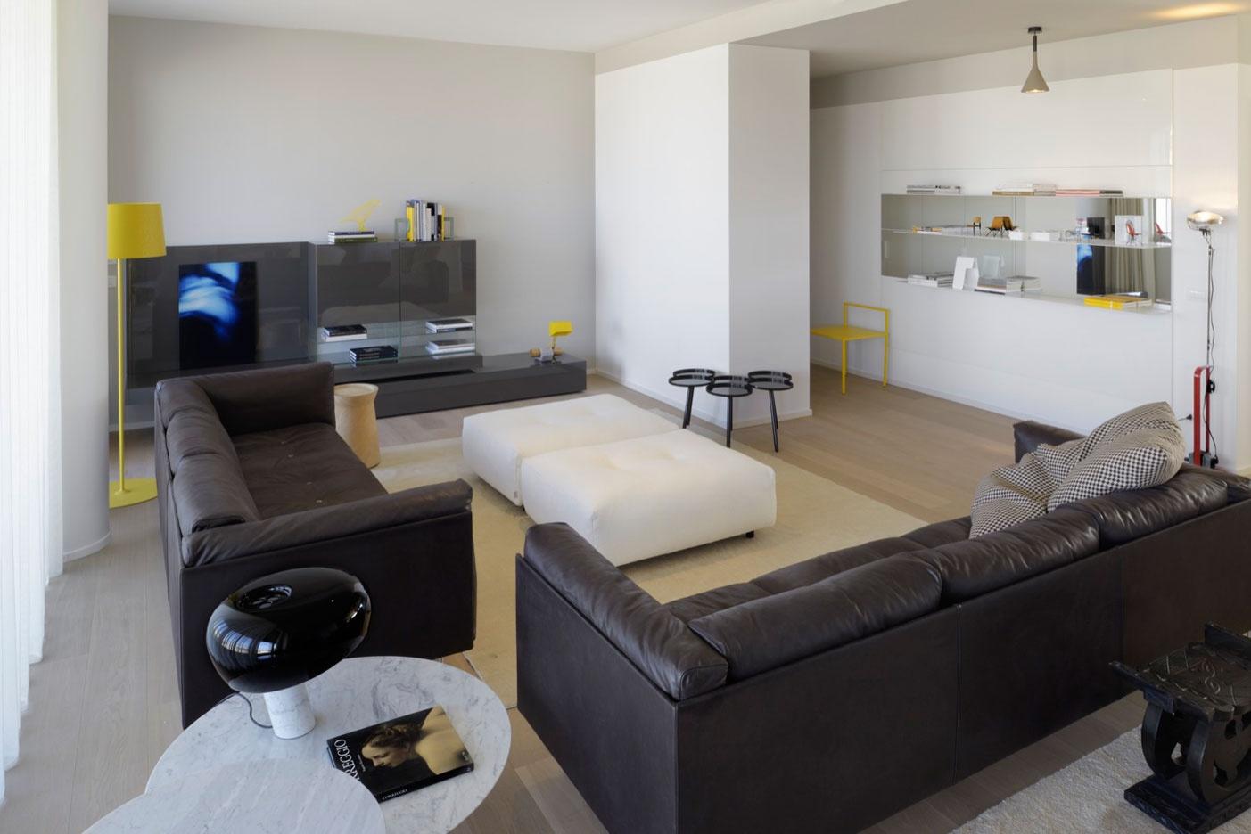 Gli arredi porro negli appartamenti campione di interni for Archi per interni appartamenti