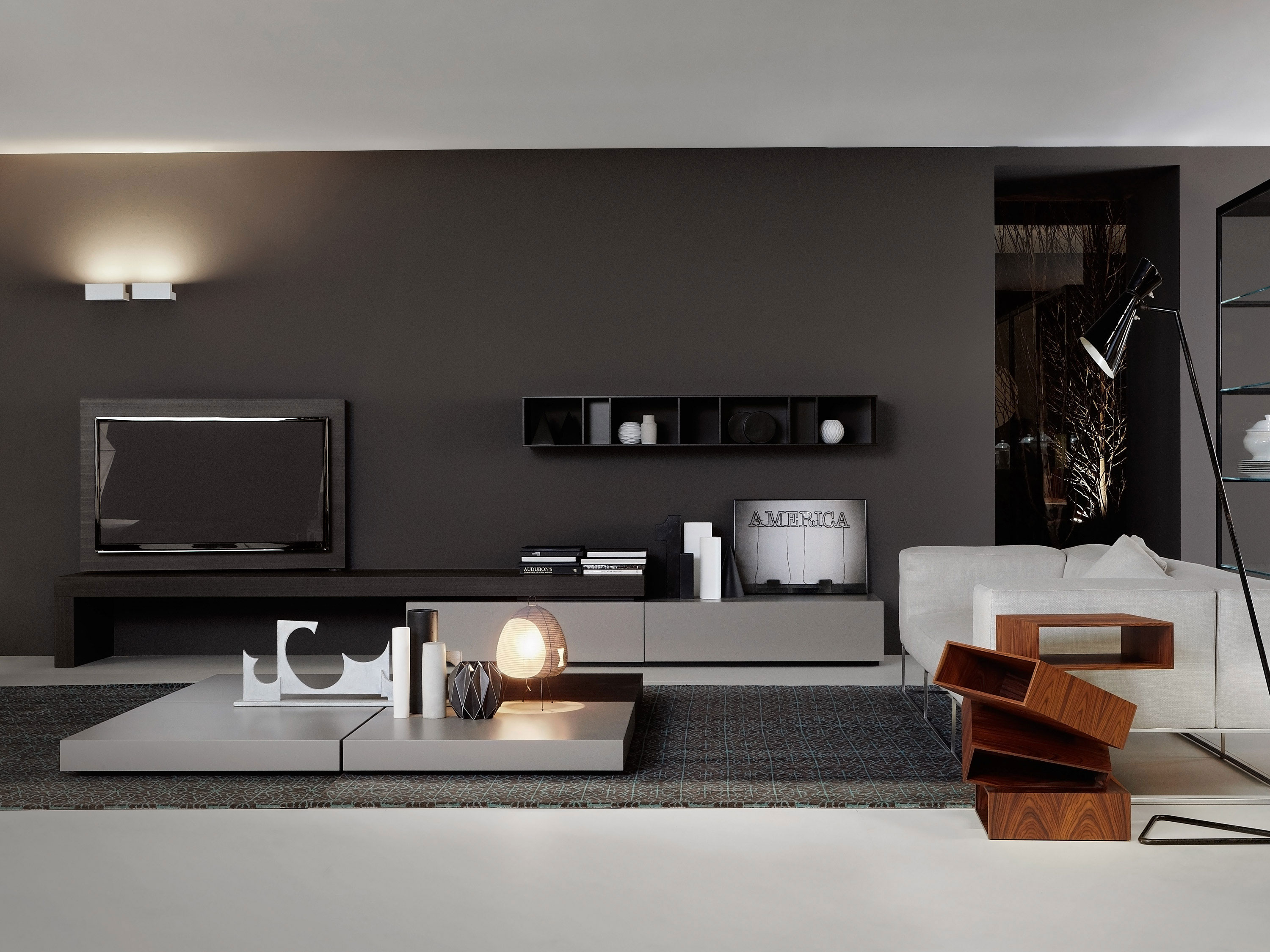Porro Spa Living Tv Hi Fi Tv Wall Unit Pinterest Spa  # Tables Tele Moderne